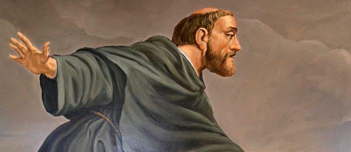 San Giuseppe da Copertino salva un migrante in procinto di annegare sollevandolo in volo